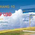 Khuyến mãi tháng 10 với 5 ngày vàng của VietNam Airlines
