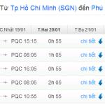 Giá vé máy bay đi Phú Quốc Tháng 1