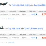 Vé máy bay từ TPHCM đi Tuy Hòa, Phú Yên của hãng Vietnam Airlines
