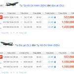 Vé máy bay từ TPHCM đi Đà Lạt giảm giá đến 10%