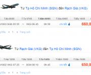 vé máy bay từ TPHCM đi Rạch Giá