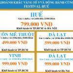 Khuyến mãi vé máy bay giá rẻ Sài Gòn – Vinh chỉ 999.000 VNĐ