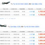 Vé máy bay giá rẻ đi Côn Đảo Tháng 6