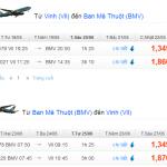 Vé máy bay khuyến mãi từ Vinh đi Buôn Ma Thuột tháng 6