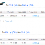 Vé máy bay khuyến mãi từ Vinh đi Đà Lạt tháng 6