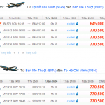 Vé máy bay khuyến mãi đi Buôn Ma Thuột chỉ 555.000 VNĐ