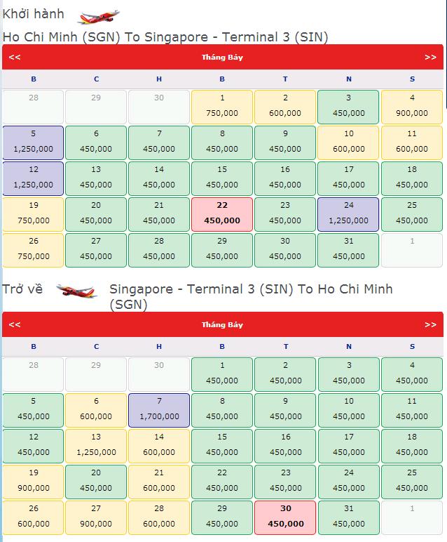 vé máy bay khuyến mãi đi singapore