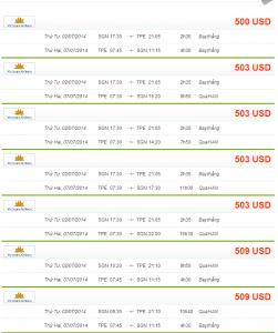 vé máy bay đi taipei giá rẻ