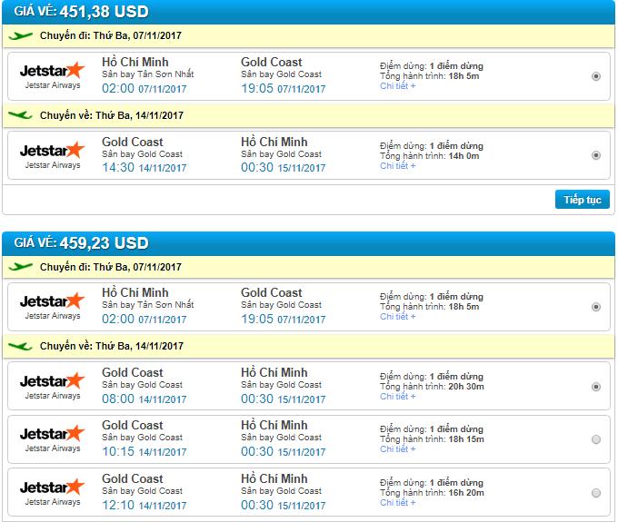 đặt vé máy bay đi gold coast giá rẻ