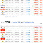 Bảng giá vé máy bay đi Phú Quốc trong tháng 10