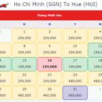 Vé máy bay từ TPHCM(Sài Gòn) đi Huế