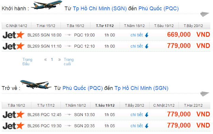 vé máy bay đi phú quốc hãng Jetstar