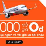 Vé máy bay đi Hà Nội 0 đồng của Jetstar
