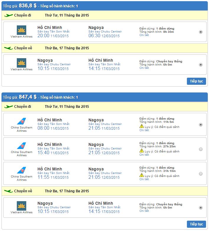 vé máy bay đi nagoya giá rẻ