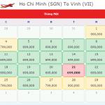 Vé máy bay đi Vinh tháng 1 giá 699k