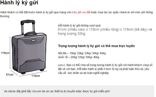 lưu ý khi gửi hành lý