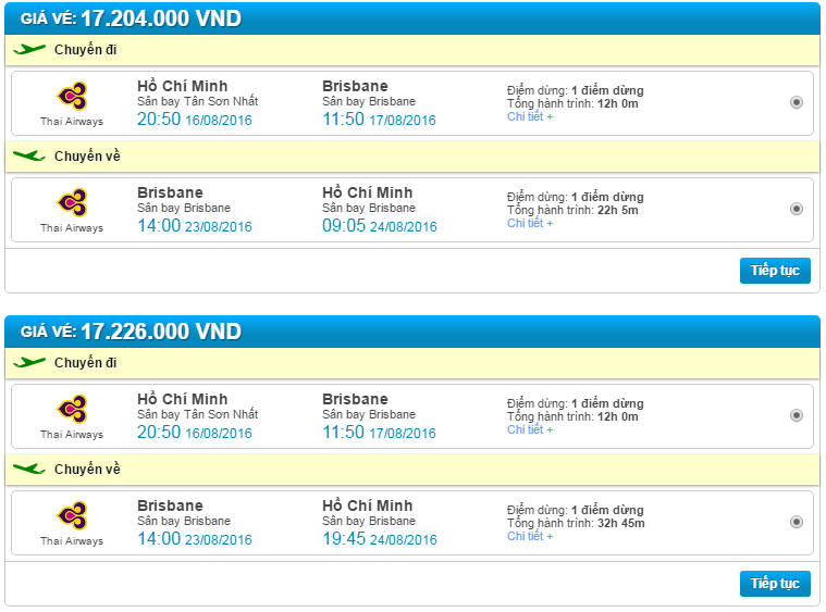 Đặt mua vé máy bay giá rẻ đi Brisbane
