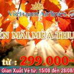Khuyến mãi mùa thu vàng 2016 Vietnam Airlines