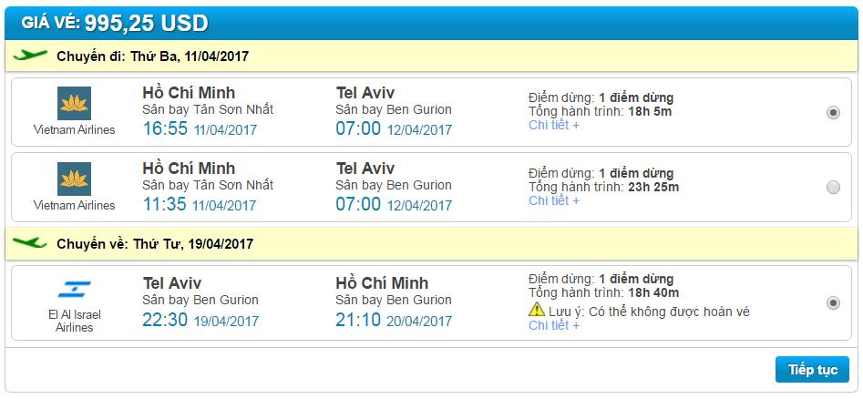 bán vé máy bay giá rẻ đi tel aviv