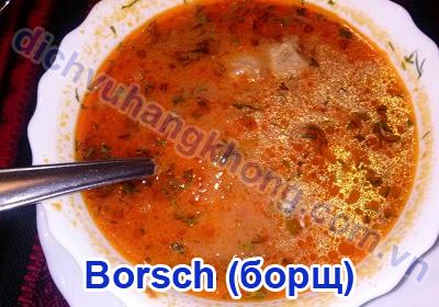 Món Borsch nhìn tuy đơn giản nhưng vị rất tuyệt vời.