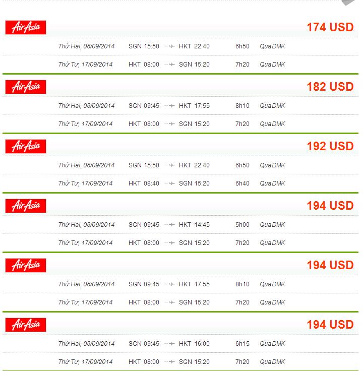 vé máy bay từ sài gòn đi Phuket