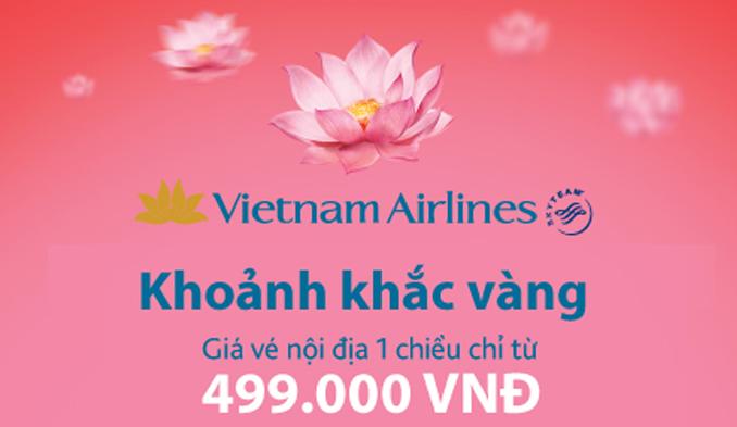 hình ảnh Vietnam Airlines khuyến mãi khoảnh khắc vàng