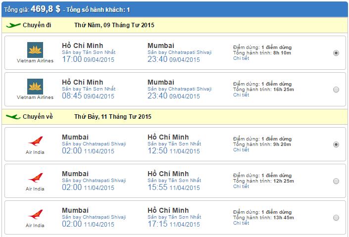vé máy bay đi mumbai giá rẻ
