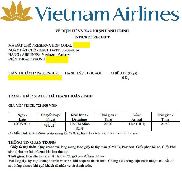 giấy tờ quan trọng cần khi đi máy bay