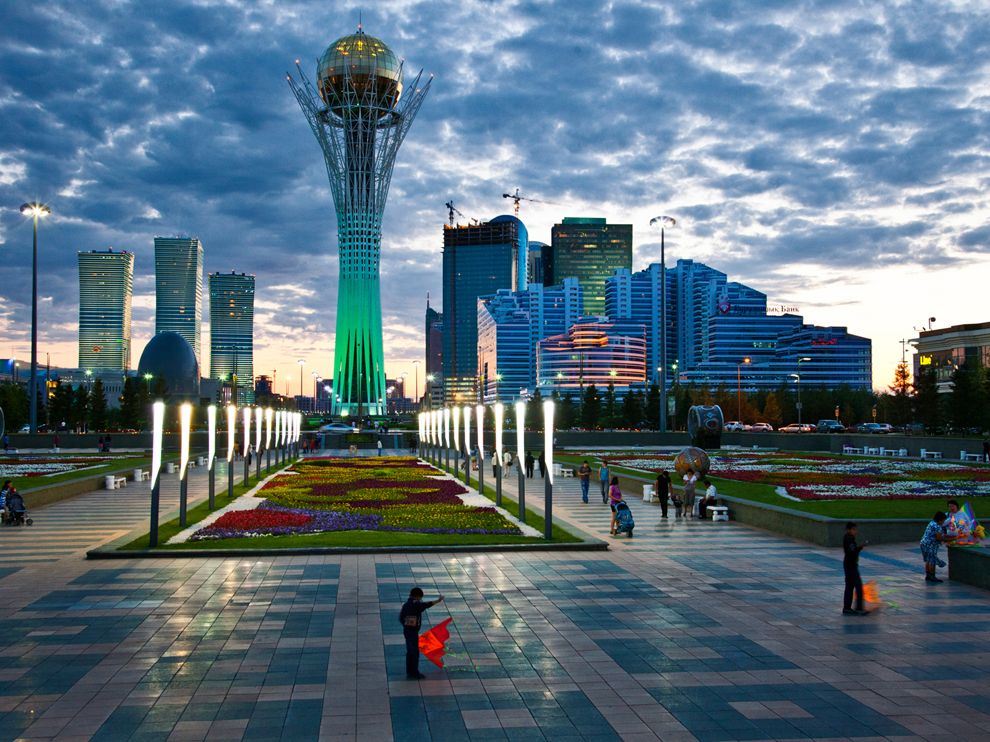 ve may bay gia re di Kazakhstan