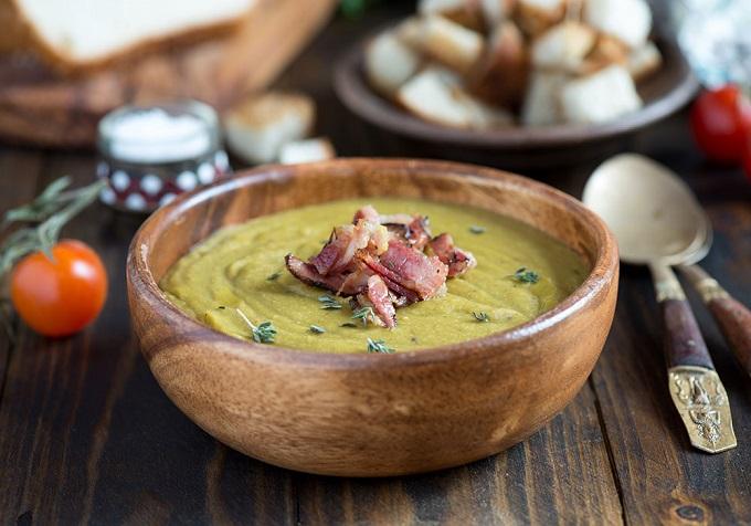 súp đậu nghiền canada